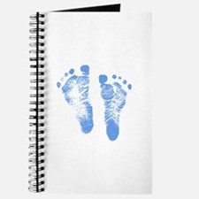 Baby Boy Footprints Journal