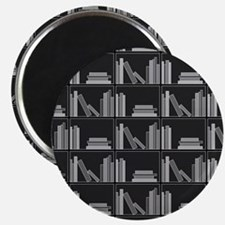 Books on Bookshelf, Gray. Magnet