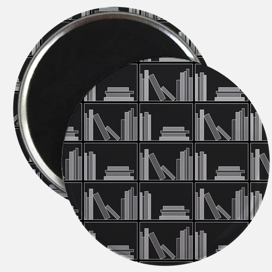 Books on Bookshelf, Gray. Magnet
