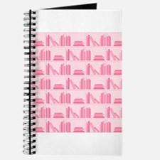 Books on Bookshelf, Pink. Journal