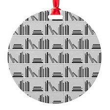 Books on Bookshelf, Gray. Ornament