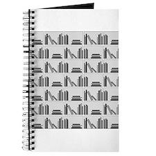 Books on Bookshelf, Gray. Journal