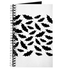 Black Bats Pattern. Journal