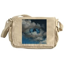 Eye and clouds - Messenger Bag
