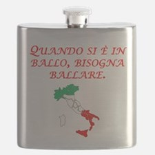Italian Proverb Penny Pound Flask