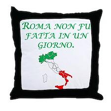 Italian Proverb Rome Throw Pillow