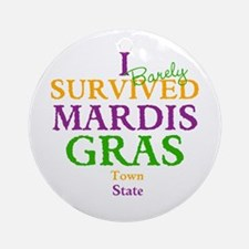 Your Mardis Gras Ornament (Round)
