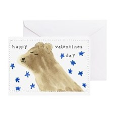 Happy Valentines Day-Chocolate Lab -Greeting Card