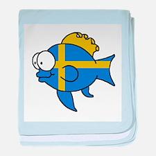 Swedish Fish baby blanket