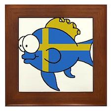 Swedish Fish Framed Tile