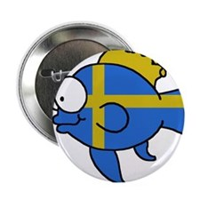 "Swedish Fish 2.25"" Button"
