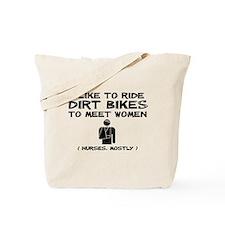 Dirt Bike Motocross Meet Women Funny T-Shirt Tote