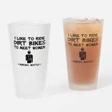 Dirt Bike Motocross Meet Women Funny T-Shirt Drink