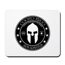 I Think Therefore I Am Armed Mousepad