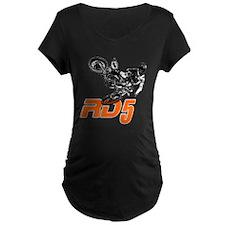 RD5bikeSlant Maternity T-Shirt