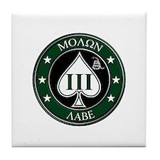 Come and Take It (Green/White Spade) Tile Coaster