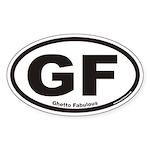 Ghetto Fabulous GF Euro Oval Sticker