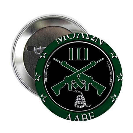 """Come and Take It (Crossed Rifles) 2.25"""" Button"""