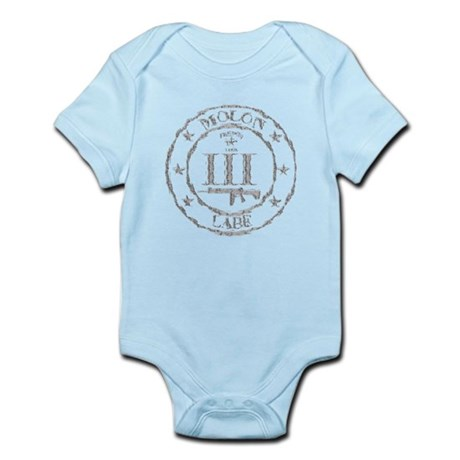 Stamped Molon Labe (Grey) Body Suit