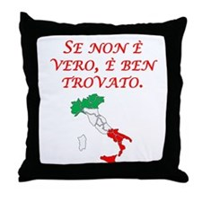 Italian Proverb Good Story Throw Pillow