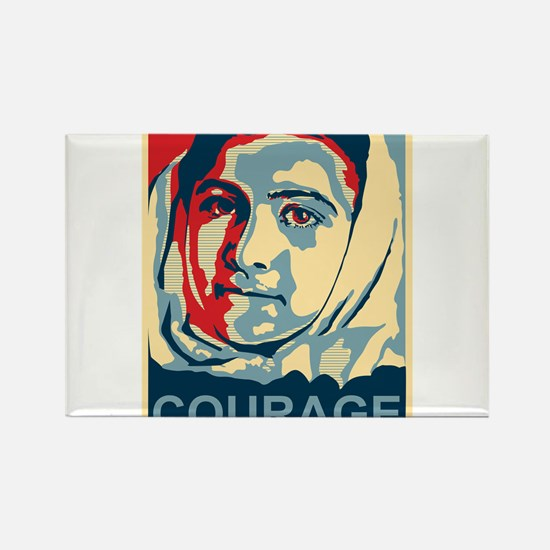The Courage of Malala Yousafzai Rectangle Magnet
