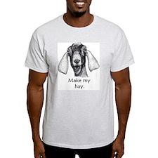 Funny Nubian Goat Shirt- Gray T-Shirt