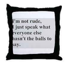 Rude Throw Pillow
