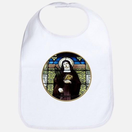 Saint Amelia Stained Glass Window Bib