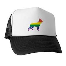 Gay Pride German Shepherd Trucker Hat