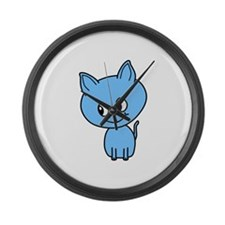 Blue Kitten. Large Wall Clock