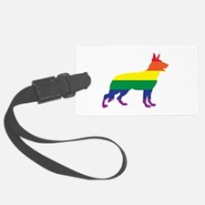 Gay Pride German Shepherd Luggage Tag