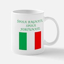 Italian Proverb Rain Wedding Day Mug