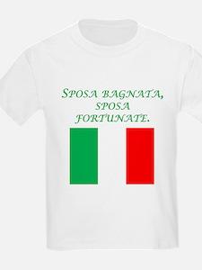 Italian Proverb Rain Wedding Day T-Shirt