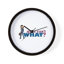 Business Lady Wall Clock