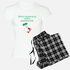 Italian Proverb Rain Wedding Day Pajamas