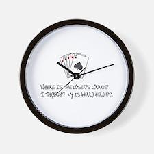 Loser's Lounge Wall Clock