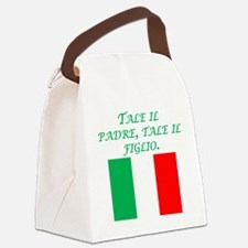 Italian Proverb Father Son Canvas Lunch Bag