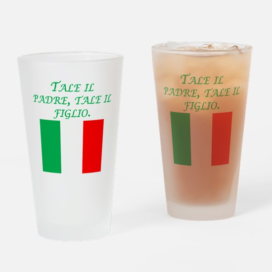 Italian Proverb Father Son Drinking Glass