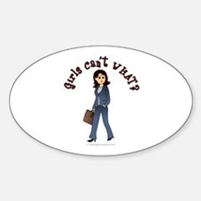 Lady in Business Suit Decal