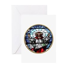 Ressurection of Jesus Stained Glass Window Greetin