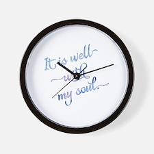 Cute Wells Wall Clock