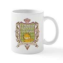 Know It All Garfield Small Mug