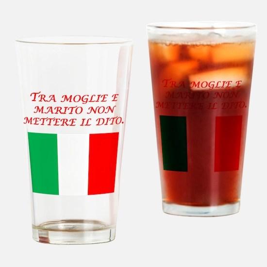 Italian Proverb Husband Wife Drinking Glass