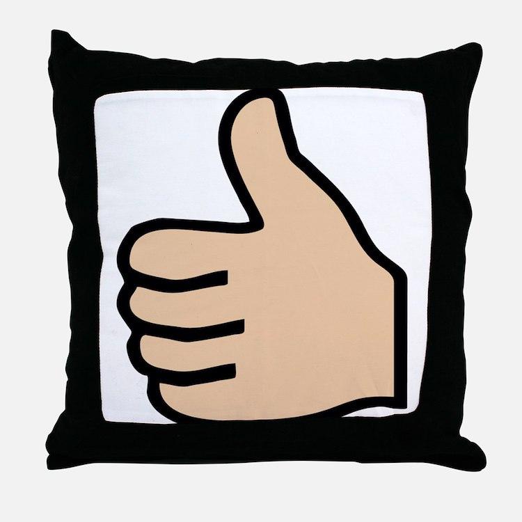 thumbs up Throw Pillow