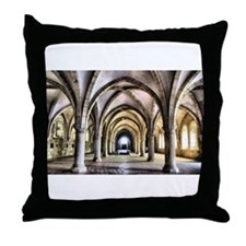Dormitory of Alcobaca monastery in Portugal Throw