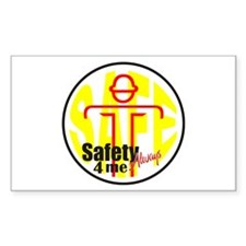 Safety 4 Me Rectangle Decal