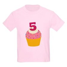 5th Birthday Cupcake T-Shirt
