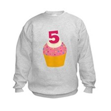 5th Birthday Cupcake Sweatshirt