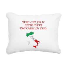 Italian Proverb Makes His Bed Rectangular Canvas P