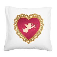 Cupid Valentine Square Canvas Pillow